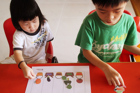 Sorting Vegetables according to colors