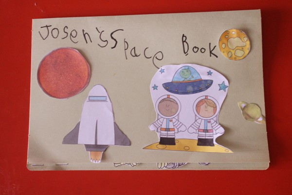 space lap book front page