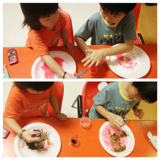 Fun science with baking soda and vinegar!
