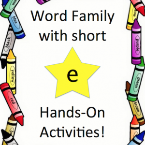 Word Family with short 'e' (Game Pack)