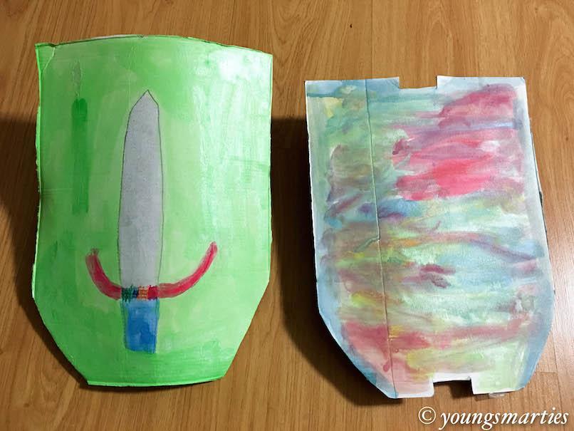Transforming unwanted cardboard into a shield