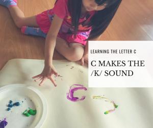 C makes the /k/ sound
