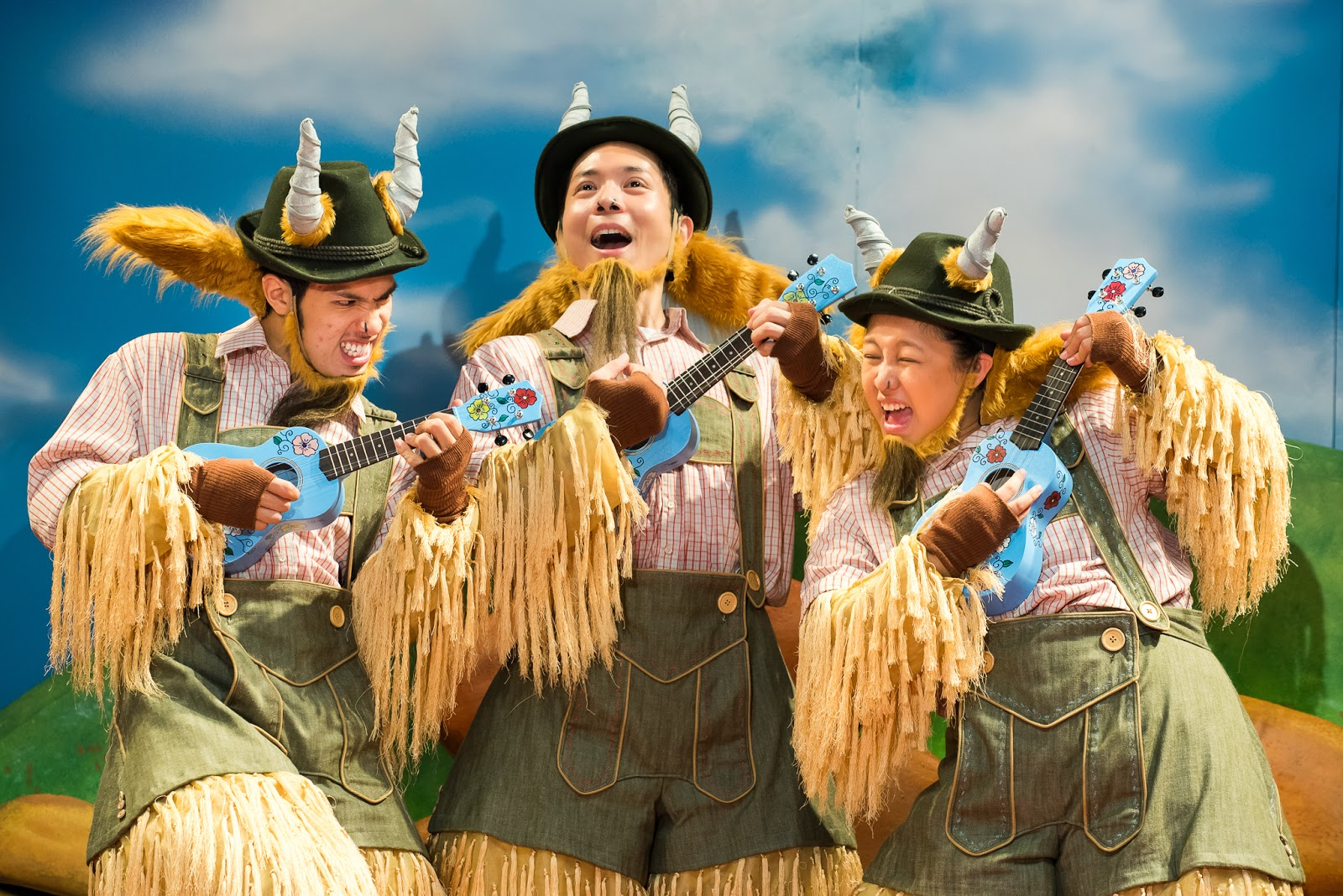 "Our very first Chinese musical – ""The Three Billy Goats Gruff"""