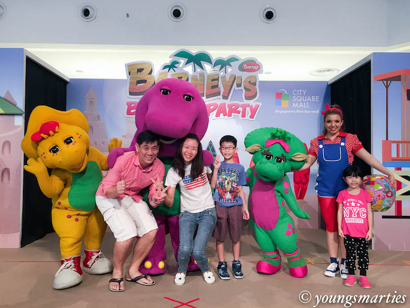 Beach party with Barney and friends