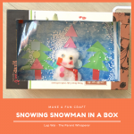Christmas Craft: Snowing Snowman in a box