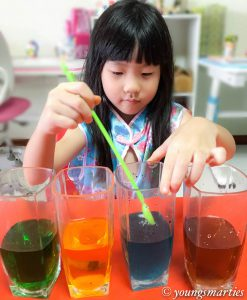Rainbow Water Experiment