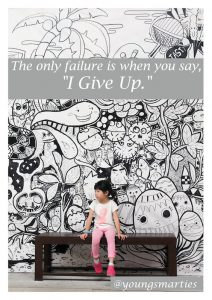 Teaching your child that failure is a success!