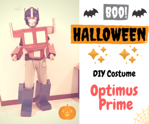 DIY Halloween Costume: Optimus Prime