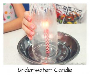 Science Experiment for kids – Underwater candle
