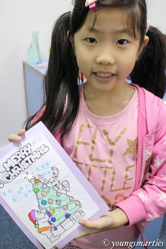 Mei mei and her card