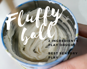 How to make fluffy ball – 2 ingredients play dough