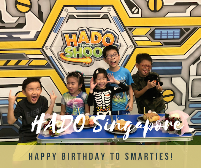 Smarties birthday party @ HADO Singapore (First Augmented Reality (AR) Techno Sports from Japan)