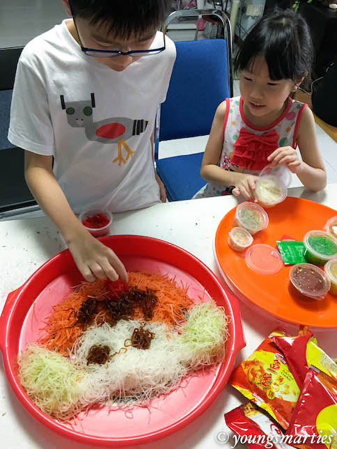 Smarties preparing yusheng
