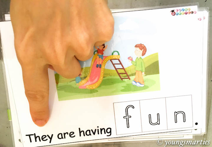 Smarties un CVC word family read and write activity