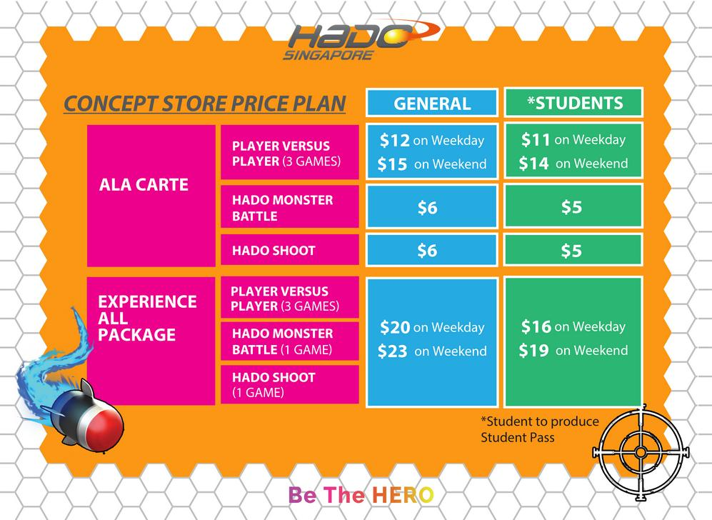 HADO Price packages