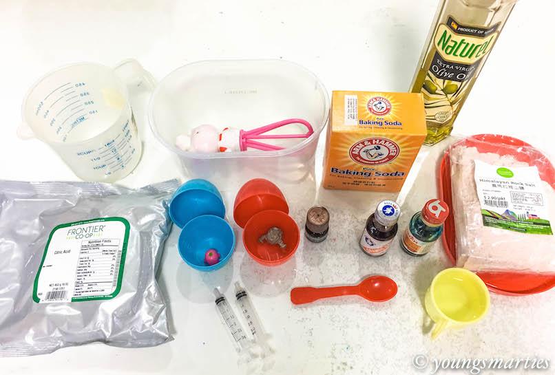 YS bath bombs ingredients