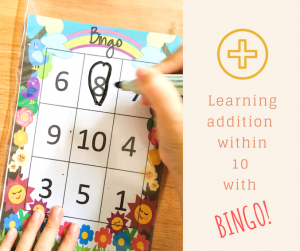 Addition within 10 with Bingo!