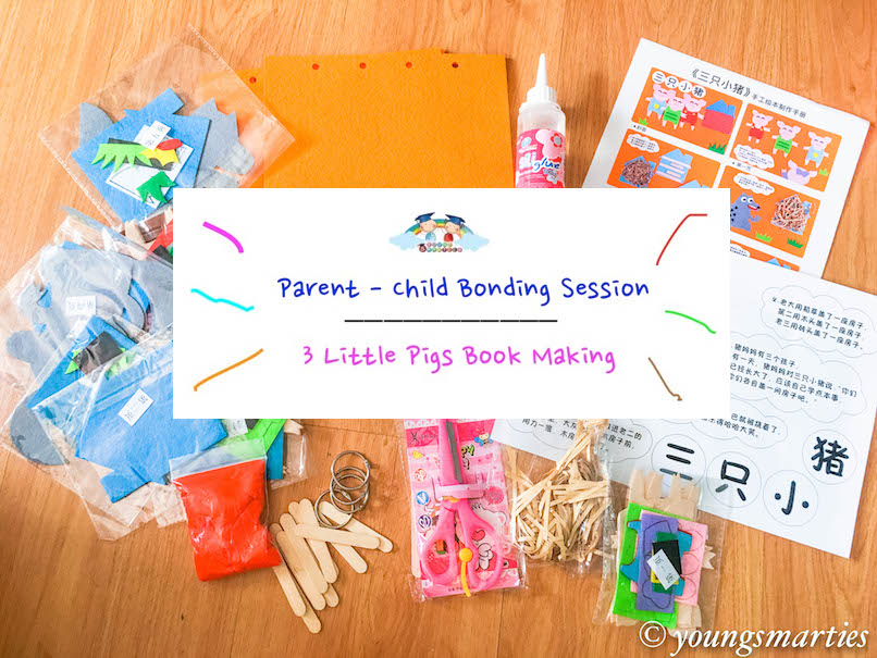 Parent-Child bonding activity: Three little pigs book making
