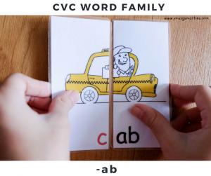 CVC word family : -ab