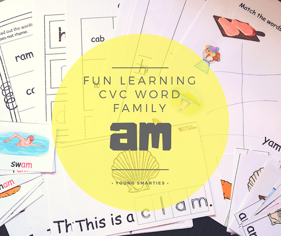 CVC word family : -am