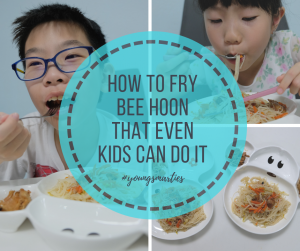 How to fry bee hoon that even kids can do it