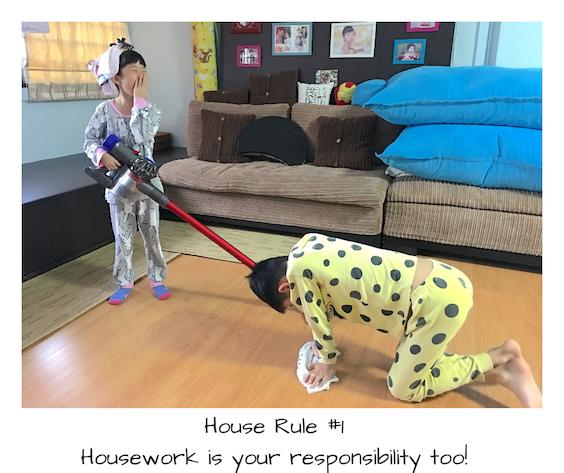 Smarties doing housework