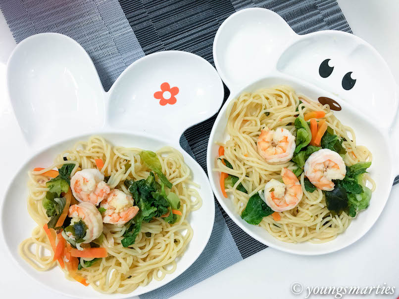 smarties-easy seafood noodle with a twist