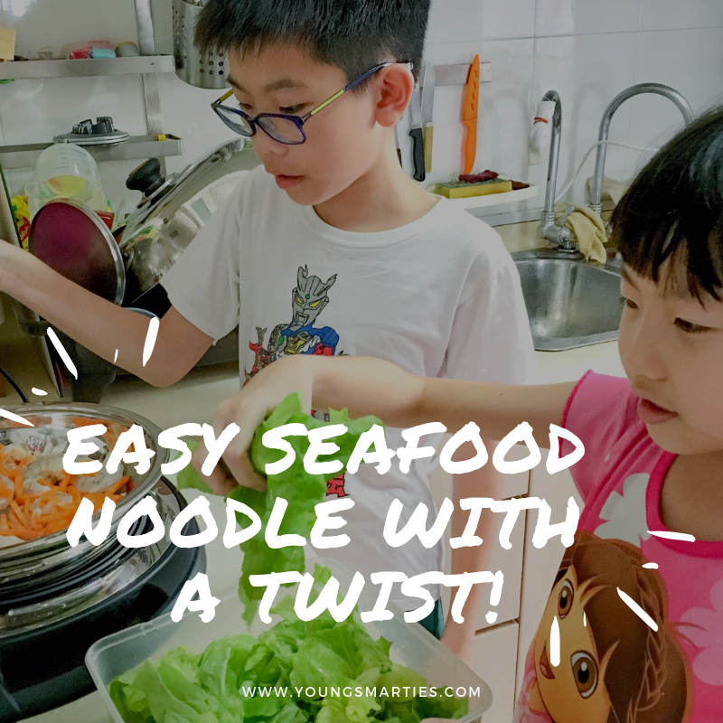 Easy Seafood Noodle with a twist!