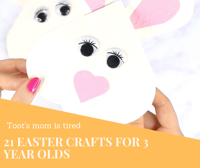 21 Easter crafts for 3 years old