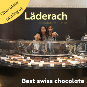 Chocolate tasting at Läderach Chocolatier Suisse