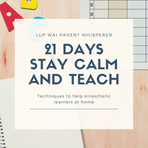 21 Days Stay Calm and Teach (For Parents)